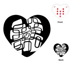 White Abstraction Playing Cards (heart)  by Valentinaart