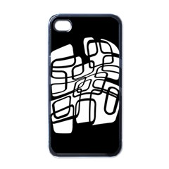 White Abstraction Apple Iphone 4 Case (black) by Valentinaart