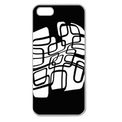 White Abstraction Apple Seamless Iphone 5 Case (clear) by Valentinaart