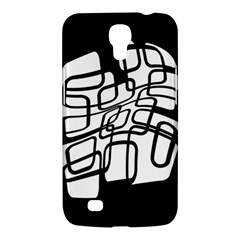 White Abstraction Samsung Galaxy Mega 6 3  I9200 Hardshell Case by Valentinaart