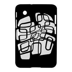 White Abstraction Samsung Galaxy Tab 2 (7 ) P3100 Hardshell Case  by Valentinaart