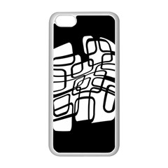 White Abstraction Apple Iphone 5c Seamless Case (white) by Valentinaart