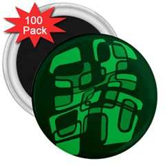 Green Abstraction 3  Magnets (100 Pack) by Valentinaart