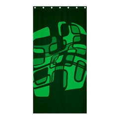 Green Abstraction Shower Curtain 36  X 72  (stall)  by Valentinaart