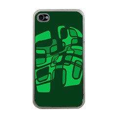 Green Abstraction Apple Iphone 4 Case (clear) by Valentinaart
