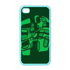 Green Abstraction Apple Iphone 4 Case (color) by Valentinaart