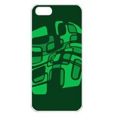 Green Abstraction Apple Iphone 5 Seamless Case (white) by Valentinaart