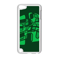 Green Abstraction Apple Ipod Touch 5 Case (white) by Valentinaart