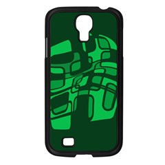 Green Abstraction Samsung Galaxy S4 I9500/ I9505 Case (black) by Valentinaart