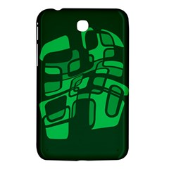 Green Abstraction Samsung Galaxy Tab 3 (7 ) P3200 Hardshell Case  by Valentinaart
