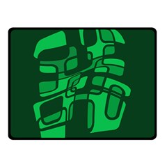 Green Abstraction Double Sided Fleece Blanket (small)  by Valentinaart