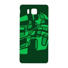 Green Abstraction Samsung Galaxy Alpha Hardshell Back Case by Valentinaart