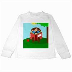 Brainiac Kids Long Sleeve T Shirts by Valentinaart