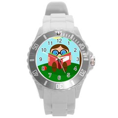 Brainiac Round Plastic Sport Watch (l) by Valentinaart