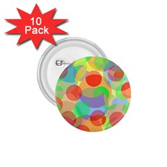 Colorful Circles 1 75  Buttons (10 Pack) by Valentinaart