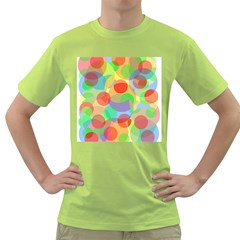 Colorful Circles Green T Shirt by Valentinaart