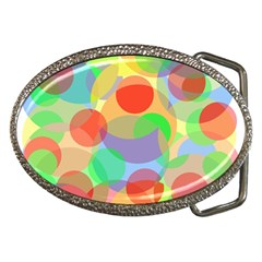 Colorful Circles Belt Buckles by Valentinaart