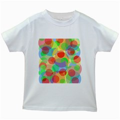 Colorful Circles Kids White T Shirts by Valentinaart