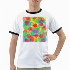 Colorful Circles Ringer T-shirts by Valentinaart