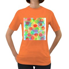 Colorful Circles Women s Dark T Shirt by Valentinaart