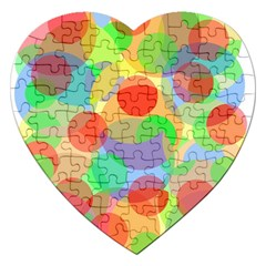 Colorful Circles Jigsaw Puzzle (heart) by Valentinaart