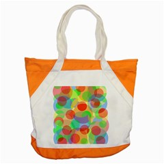 Colorful Circles Accent Tote Bag by Valentinaart