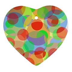 Colorful Circles Heart Ornament (2 Sides) by Valentinaart