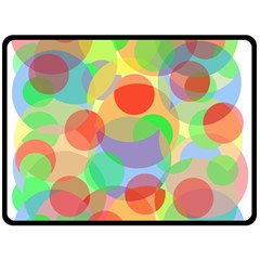 Colorful Circles Fleece Blanket (large)  by Valentinaart