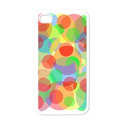 Colorful Circles Apple Iphone 4 Case (white) by Valentinaart