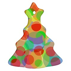 Colorful Circles Ornament (christmas Tree) by Valentinaart