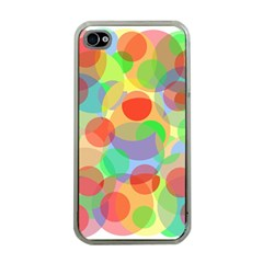 Colorful Circles Apple Iphone 4 Case (clear) by Valentinaart