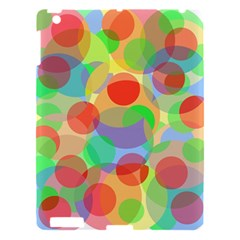 Colorful Circles Apple Ipad 3/4 Hardshell Case by Valentinaart