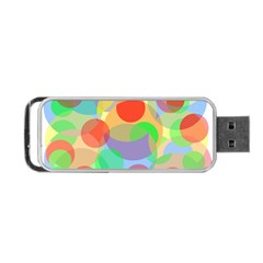 Colorful Circles Portable Usb Flash (two Sides) by Valentinaart