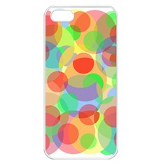 Colorful Circles Apple Iphone 5 Seamless Case (white) by Valentinaart