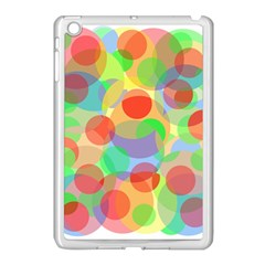 Colorful Circles Apple Ipad Mini Case (white) by Valentinaart