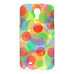 Colorful Circles Samsung Galaxy S4 I9500/i9505 Hardshell Case by Valentinaart