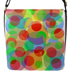 Colorful Circles Flap Messenger Bag (s) by Valentinaart