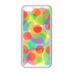 Colorful Circles Apple Iphone 5c Seamless Case (white) by Valentinaart