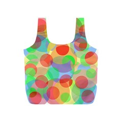 Colorful Circles Full Print Recycle Bags (s)  by Valentinaart