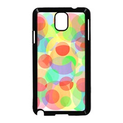 Colorful Circles Samsung Galaxy Note 3 Neo Hardshell Case (black) by Valentinaart