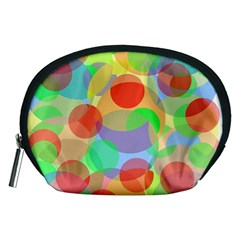 Colorful Circles Accessory Pouches (medium)  by Valentinaart