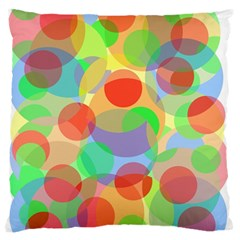 Colorful Circles Large Flano Cushion Case (two Sides) by Valentinaart
