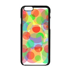 Colorful Circles Apple Iphone 6/6s Black Enamel Case by Valentinaart