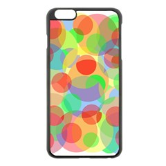 Colorful Circles Apple Iphone 6 Plus/6s Plus Black Enamel Case by Valentinaart