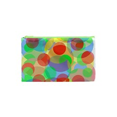 Colorful Circles Cosmetic Bag (xs) by Valentinaart