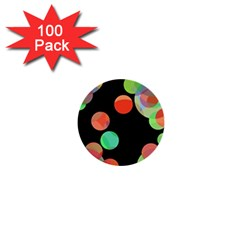 Colorful Circles 1  Mini Buttons (100 Pack)  by Valentinaart