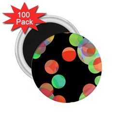 Colorful Circles 2 25  Magnets (100 Pack)  by Valentinaart