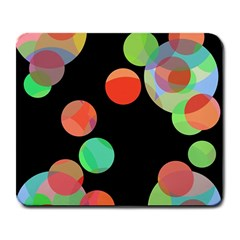 Colorful Circles Large Mousepads by Valentinaart