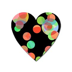 Colorful Circles Heart Magnet by Valentinaart