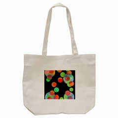Colorful Circles Tote Bag (cream) by Valentinaart